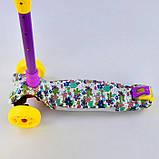 Самокат 77688 Best Scooter с ПОДСВЕТКОЙ ПЛАТФОРМЫ, 4 колеса PU со светом, d=12 см, фото 3