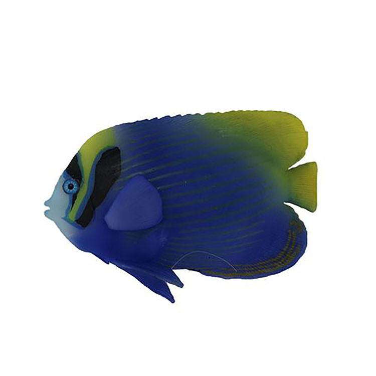 Декор для аквариума флуоресцентная рыбка Imperator angelfish blue 9,5 см