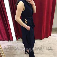 Костюм брючный женский Justwoman Италия синий, фото 2