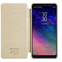 Чехол-книжка Nillkin для Samsung A8 (2018) Gold