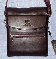 Мужская сумка Gorangd 8824-52 коричневая искусственная кожа с визитницей