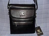 Мужская сумка Gorangd 8824-52 черная искусственная кожа с визитницей