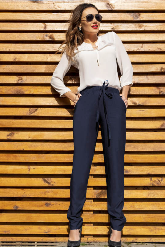 Облегченные джинсовые штаны Радмила, темно-синий