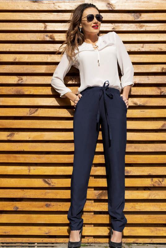 Полегшені джинсові штани Радмила, темно-синій