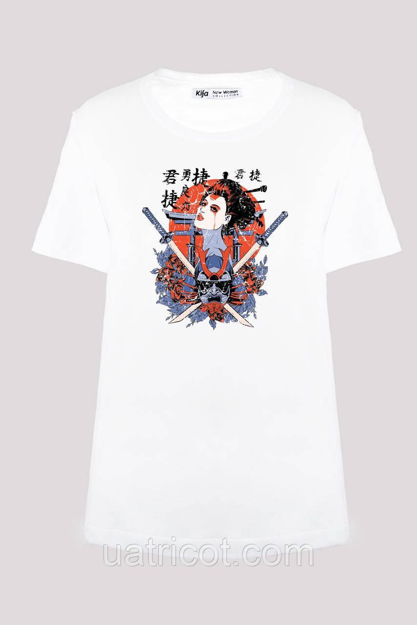 Футболка женская KIFA ФЖ-017/30 Geisha белая