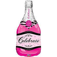 """Шампанське  рожеве  33""""  (83см)"""