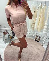 Женский летний комбинезон с шортами sh-004 (разные цвета, 42-52р), фото 3