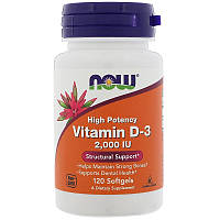 Вітамін NOW Foods Vitamin D-3 High Potency 2,000 IU 120 Softgels