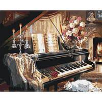 """Картина по номерам Идейка Загородный дом """"Вечерняя мелодия"""" 40*50см (KHO2506)"""