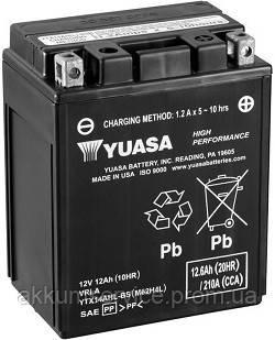 Аккумулятор мото Yuasa High Performance MF 12,6 AH/210А YTX14AHL-BS
