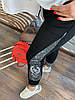 Штани на гумці з трикотажу декор: аплікація з паєтками. Розмір:З -88/90 М-90/92 Л-92/94.Різні кольори (0512), фото 4