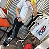 Штани на гумці з трикотажу декор: аплікація з паєтками. Розмір:З -88/90 М-90/92 Л-92/94.Різні кольори (0512), фото 5