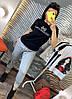Штани на гумці з трикотажу декор: аплікація з паєтками. Розмір:З -88/90 М-90/92 Л-92/94.Різні кольори (0512), фото 8