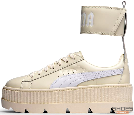 huge selection of 43691 f37ed Женские кроссовки Puma Fenty Ankle Strap Creeper - Vanilla Ice/White 366264  02