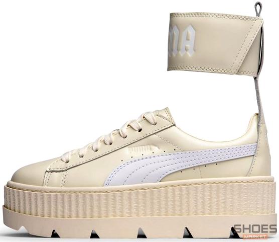 huge selection of c4f2a 10e0e Женские кроссовки Puma Fenty Ankle Strap Creeper - Vanilla Ice/White 366264  02