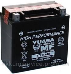 Аккумулятор мото Yuasa High Performance MF 12,6 AH/240А YTX14H-BS