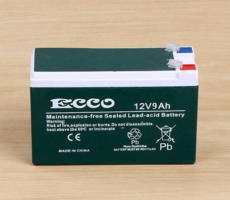 Аккумулятор ECCO 12v9Ah, фото 2