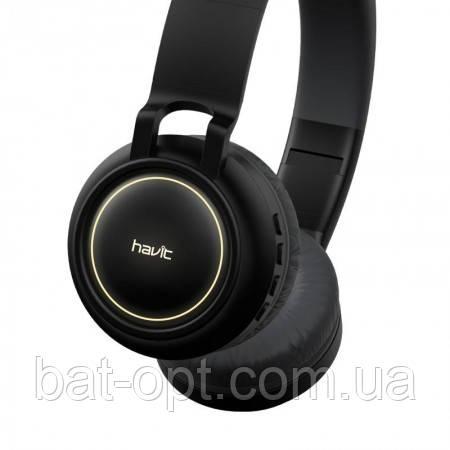 Беспроводные наушники Bluetooth Havit HV-H2587BT с микрофоном с подсветкой черные