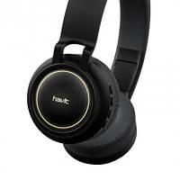 Беспроводные наушники Bluetooth Havit HV-H2587BT с микрофоном с подсветкой черные, фото 1