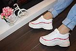 Кроссовки белые с красной полоской Т39, фото 6