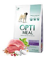 Optimeal сухой корм для собак малых пород с уткой 12КГ