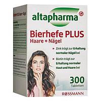Altapharma Bierhefe PLUS Haar + Nägel - Пивные дрожжи Витамины для волос и ногтей, 300 табл., фото 1