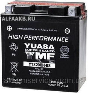 Аккумулятор мото Yuasa High Performance MF 18,9 AH/310А YTX20СH-BS