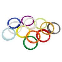 Комплект пластика для лектронной 3D ручки (PLA) 20 цветов по 10 метров (уп.20шт)