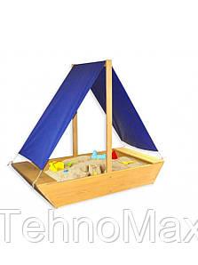 Дитяча пісочниця дерев'яна Човник luckyStar