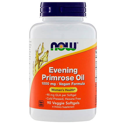 NOW Foods Evening Primrose Oil 1300 mg 120 Softgels, фото 2