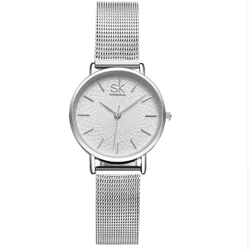 Женские наручные часы с серебристым ремешком код 409