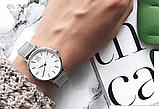 Женские наручные часы с серебристым ремешком код 409, фото 2
