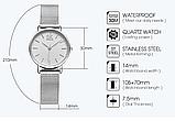 Женские наручные часы с серебристым ремешком код 409, фото 3
