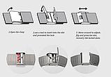 Женские наручные часы с серебристым ремешком код 409, фото 4
