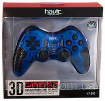Игровой манипулятор (джойстик) HAVIT HV-G85 USB+PS2+PS3 синий
