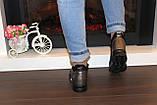 Кроссовки высокие женские черные с бронзовым Т81, фото 8