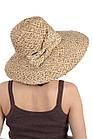 Шляпа соломенная с украшением в виде банта, фото 2