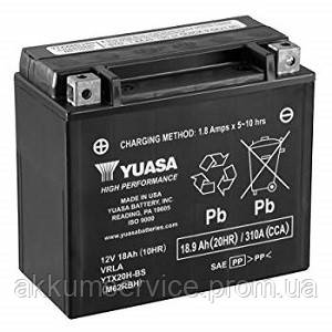 Аккумулятор мото Yuasa High Performance MF 18,9 AH/310А YTX20H-BS