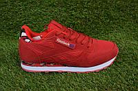Женские кроссовки рибок reebok classic leather красные, копия, фото 1