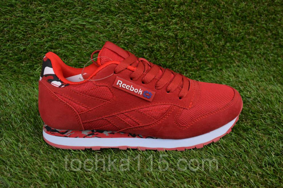 Женские кроссовки рибок reebok classic leather красные, копия