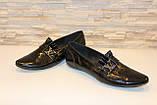 Туфлі жіночі чорні натуральна шкіра Т53, фото 4