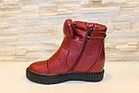 Ботиночки женские бордовые Д560, фото 2