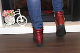 Ботиночки женские бордовые Д560, фото 5
