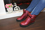 Ботиночки женские бордовые Д560, фото 6
