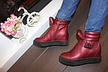 Ботиночки женские бордовые Д560, фото 7