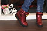 Ботиночки женские бордовые Д560, фото 8