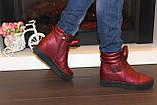 Ботиночки женские бордовые Д560, фото 9
