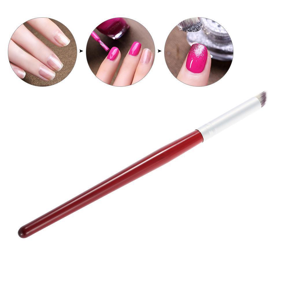 Ногти Щетка Волосы Starry Постепенное изменение Красное дерево Halo Dye Ручка - 1TopShop