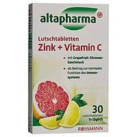 Altapharma Lutschtabletten Zink + Vitamin C - Цинк + витамин С жевательные таблетки, 30 табл.