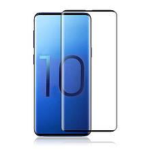 Защитное стекло 3D Full Glue для Samsung S10 (Черное)
